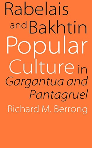 9780803262614: Rabelais and Bakhtin: Popular Culture in