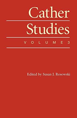 9780803264151: Cather Studies, Volume 3
