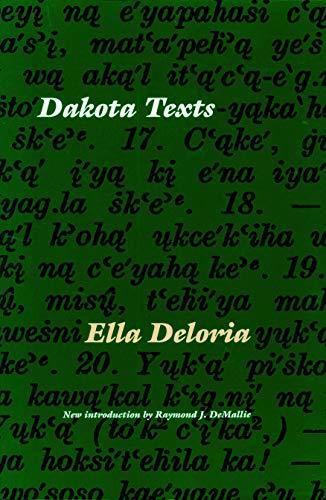 9780803266605: Dakota Texts