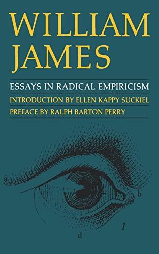 9780803275898: Essays in Radical Empiricism