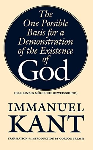 9780803277779: The One Possible Basis for a Demonstration of the Existence of God (Bison Book S)