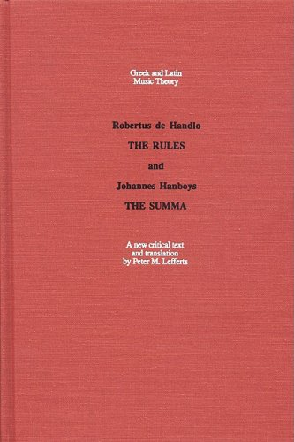 9780803279346: The Rules and the Summa (Greek and Latin Music Theory)