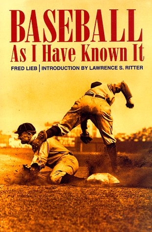 9780803279629: Baseball As I Have Known It