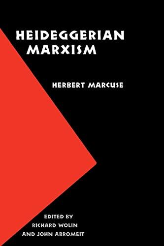 9780803283121: Heideggerian Marxism (European Horizons)