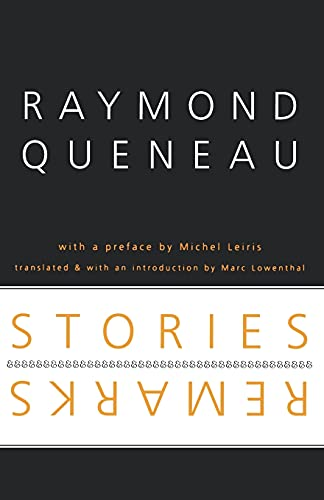 9780803288522: Stories and Remarks (French Modernist Library)