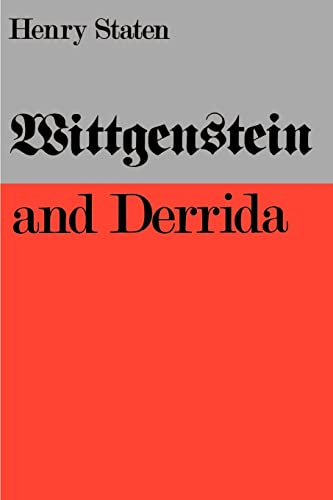 9780803291690: Wittgenstein and Derrida