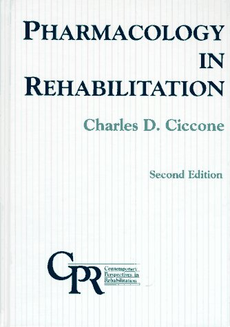 9780803600300: Pharmacology in Rehabilitation (Contemporary Perspectives in Rehabilitation)
