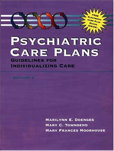 9780803603226: Psychiatric Care Plans: Guidelines for Individualizing Care (Book with Diskette for Windows)