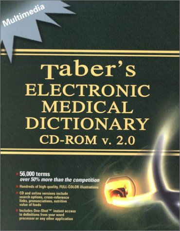 9780803606579: Tabers Electronic Medical Dictionary: Cd-Rom V. 2.0