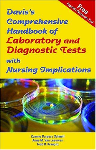 Davis's Comprehensive Handbook of Laboratory and Diagnostic: Zoanne Burgess Schnell,