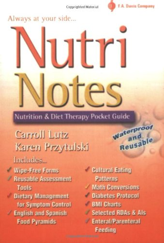 9780803611146: NutriNotes: Nutrition and Diet Therapy Pocket Guide