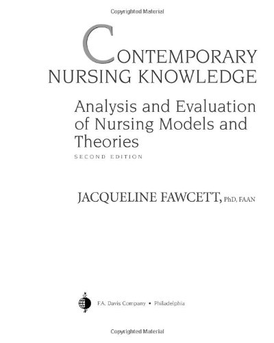 9780803611948: Contemporary Nursing Knowledge: Analysis and Evaluation of Nursing Models and Theories
