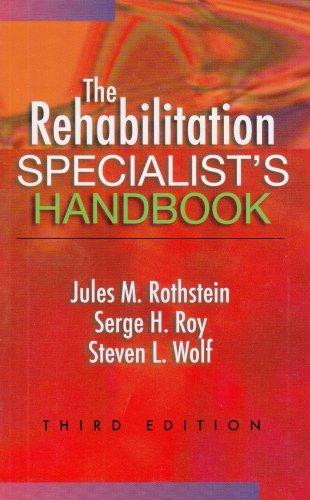 9780803612389: The Rehabilitation Specialist's Handbook (Rehabilitation Specialist's Handbook (Rothstein))