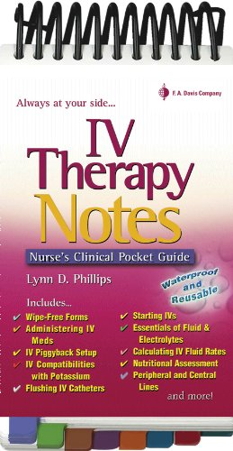 Iv therapy notes nurses clinical pocket guide nurses clinical iv therapy notes nurses clinical pocket guide nurses clinical pocket guides lynn fandeluxe Gallery
