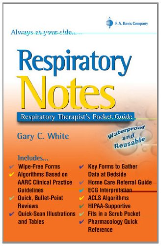 9780803614673: Respiratory Notes: Respiratory Therapist's Pocket Guide (Davis's Notes)