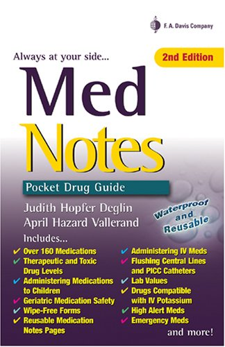 9780803615311: Med Notes: Pocket Drug Guide (Davis's Notes)