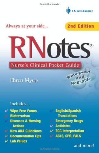 9780803615335: RNotes: Nurse's Clinical Pocket Guide: Baker's Dozen in Point of Purchase Display