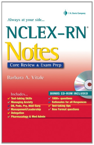 9780803615700: NCLEX-RN Notes: Core Review and Exam Prep (Davis's Notes)