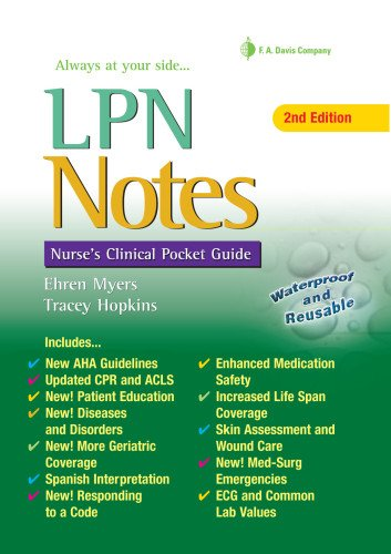 LPN Notes: Nurse's Clinical Pocket Guide: Myers RN, Ehren