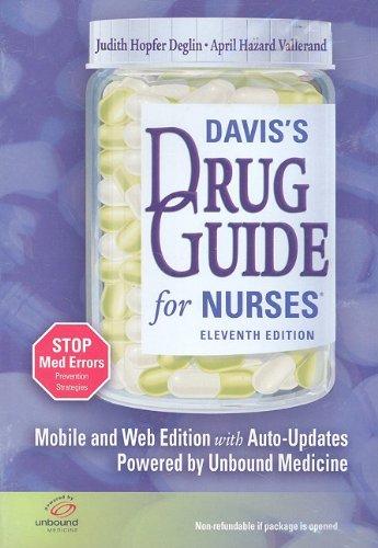 9780803619333: Davis's Drug Guide for Nurses CD version Unbound Medicine 11th for PDA, Web & Wireless