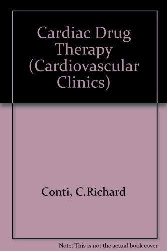 9780803619753: Cardiac Drug Therapy