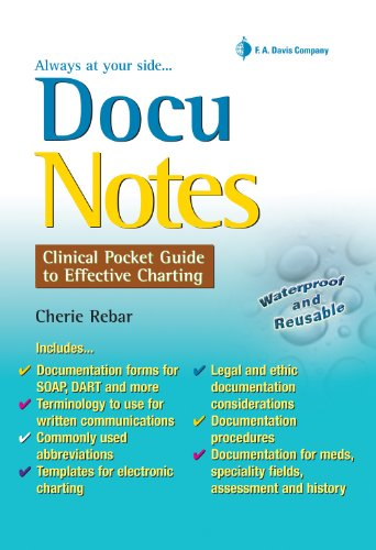DocuNotes: Clinical Pocket Guide to Effective Charting: Cherie Rebar