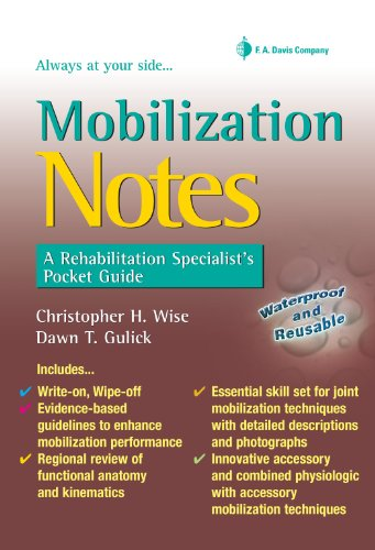 9780803620964: Mobilization Notes: A Rehabilitation Specialist's Pocket Guide (Davis's Notes)