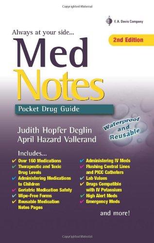 9780803621398: MedNotes: Pocket Drug Guide (Davis's Notes)