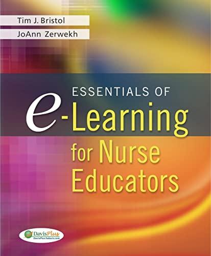 9780803621732: Essentials of E-Learning for Nurse Educators (DavisPlus)