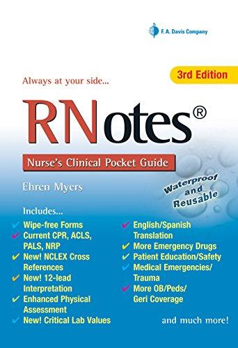 9780803623132: RNotes®: Nurse's Clinical Pocket Guide