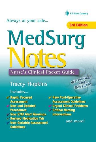 9780803626850: MedSurg Notes: Nurse's Clinical Pocket Guide