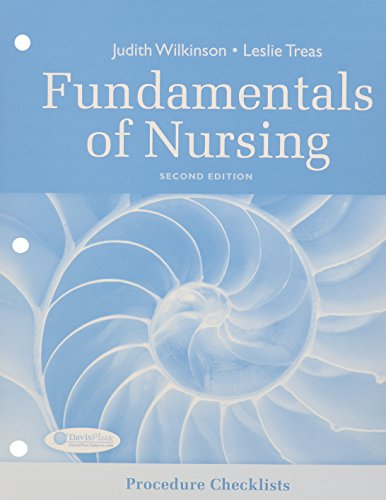 Procedure Checklists for Fundamentals of Nursing 2nd Edition (9780803627192) by F.A. Davis