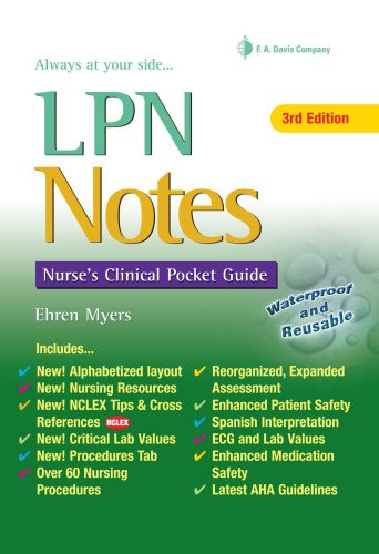 LPN Notes: Nurses Clinical Pocket Guide (Daviss Notes) by