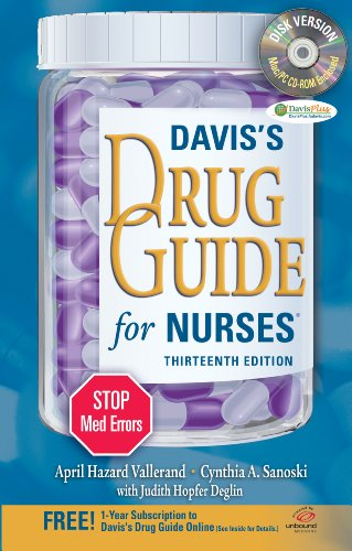 9780803628335: Davis's Drug Guide for Nurses + Resource Kit CD-ROM (Davis's Drug Guide for Nurses (W/CD))