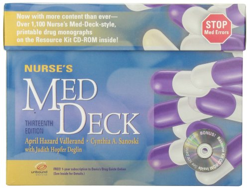 9780803628359: Nurse's Med Deck + Resource Kit CD-ROM