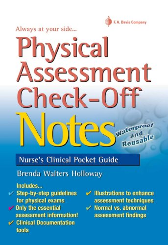 9780803629653: Physical Assessment Check-Off Notes (Nurse's Clinical Pocket Guides)