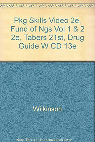 Pkg Skills Video 2e, Fund of Ngs Vol 1 & 2 2e, Tabers 21st, Drug Guide w CD 13e (9780803629905) by F.A. Davis