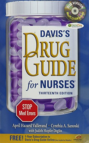 9780803637283: Pkg: Tabers 22nd Index & Vallerand Drug Guide w CD 13th