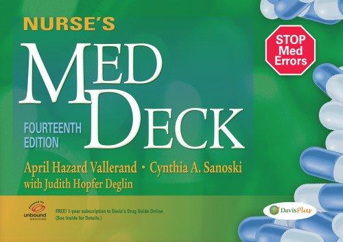 Nurses Med Deck: Vallerand PhD RN FAAN, April Hazard