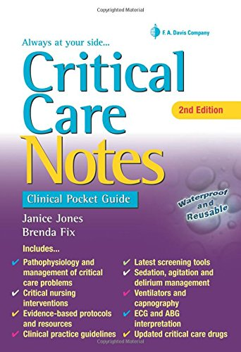 9780803642232: Critical Care Notes: Clinical Pocket Guide