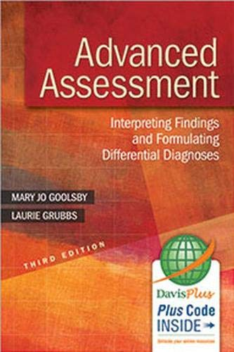 Advanced Assessment: Interpreting Findings and Formulating Differential: Goolsby EdD MSN