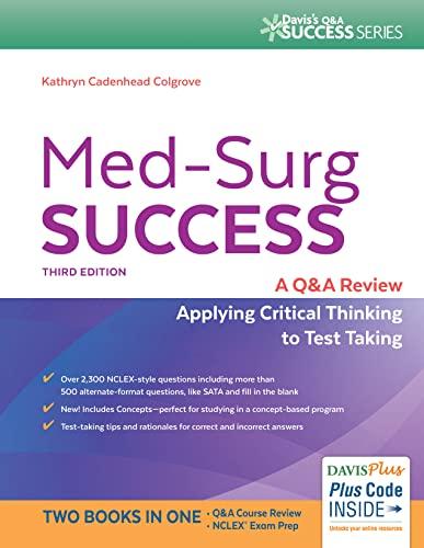 9780803644021: Med-Surg Success: NCLEX-Style Q&A Review (Davis's Q&A Success)
