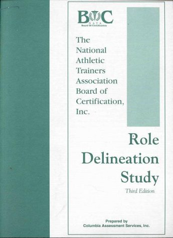 9780803665040: Role Delineation Study of the Entry-Level Athletic Trainer Certification Examination
