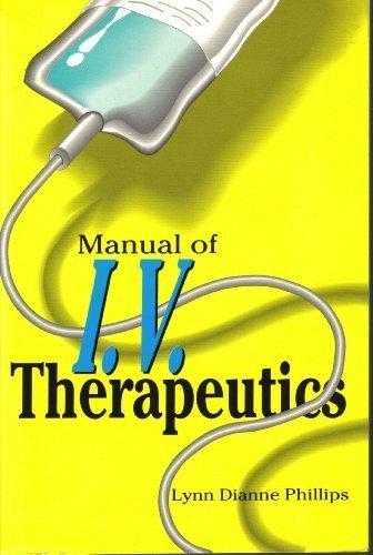 9780803669116: Manual of I.V. Therapeutics
