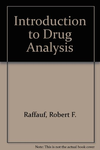 9780803672505: Introduction to Drug Analysis