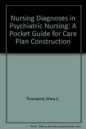 9780803685796: Nursing Diagnoses in Psychiatric Nursing: A Pocket Guide for Care Plan Construction