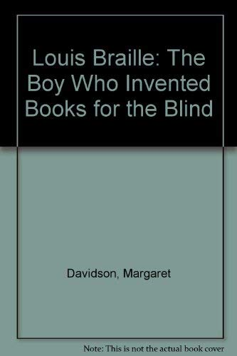 9780803842816: Louis Braille: The Boy Who Invented Books for the Blind