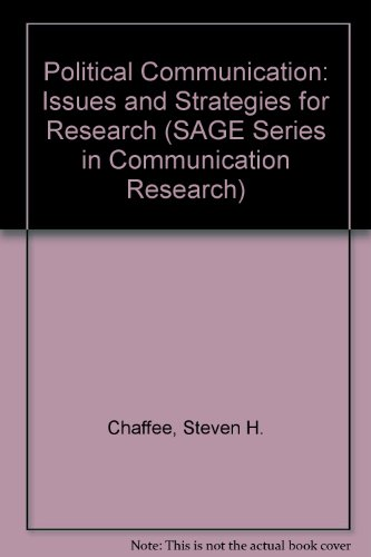 9780803905078: Political Communication: Issues and Strategies for Research (SAGE Series in Communication Research)
