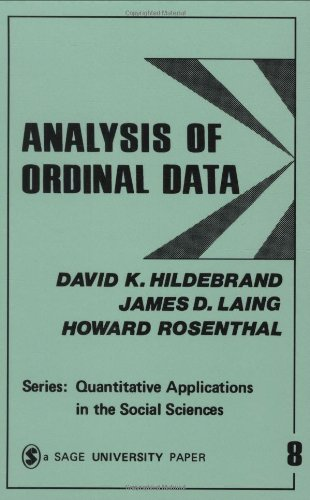 9780803907959: Analysis of Ordinal Data (Quantitative Applications in the Social Sciences)