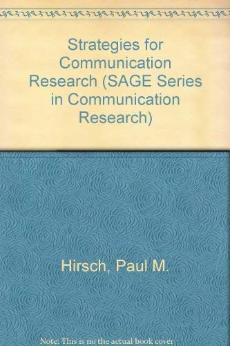 9780803908918: Strategies for Communication Research (SAGE Series in Communication Research)